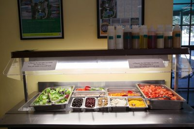 Dining hall salad bar