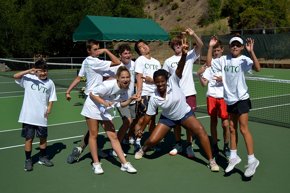 Tennis Counselors and Students