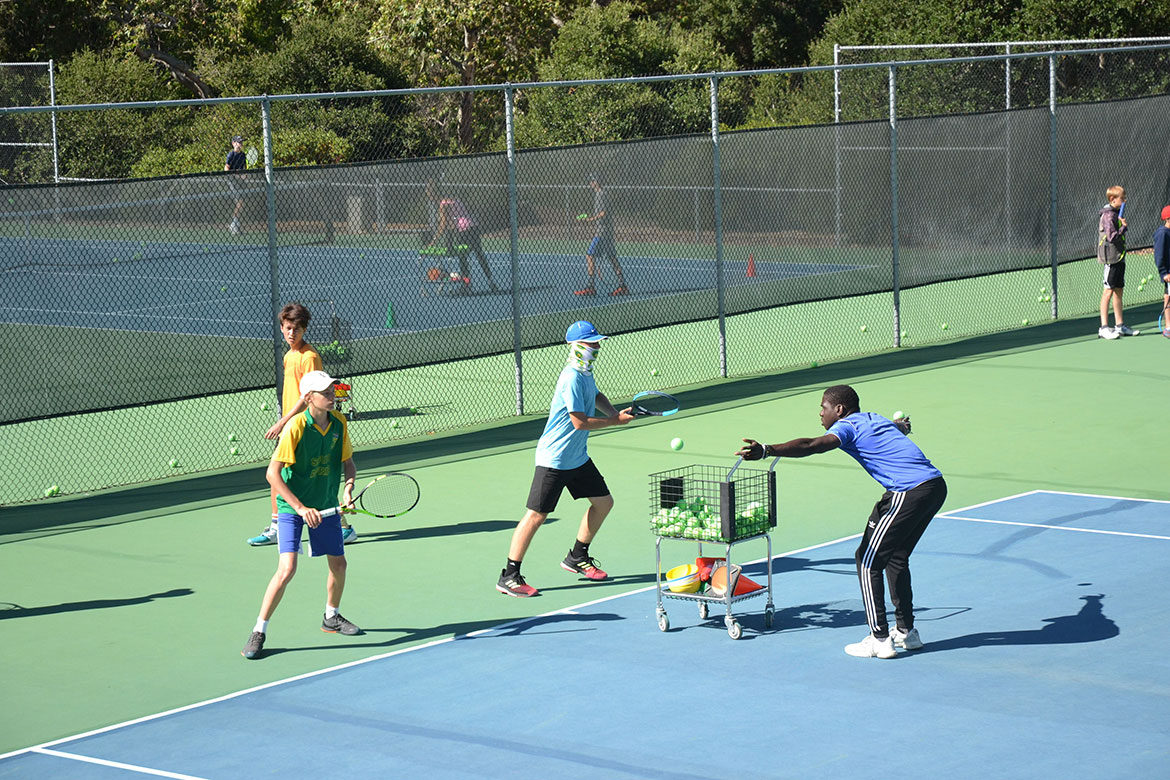 Tennis Instructors and Students